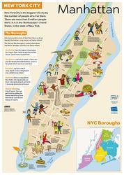 Výukový plakát – nástěnná mapa New York / USA města